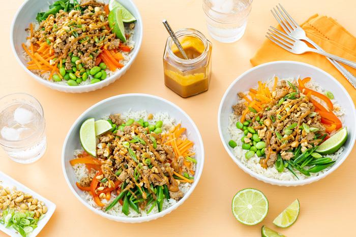 Thai Turkey Grain Bowls