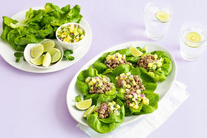 Jamaican Ground Turkey Lettuce Wraps
