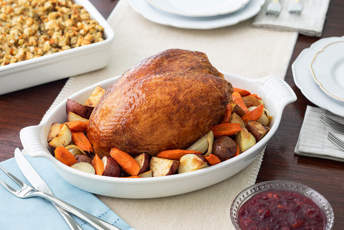 Oven Roasted Turkey Breast and Roasted Vegetables
