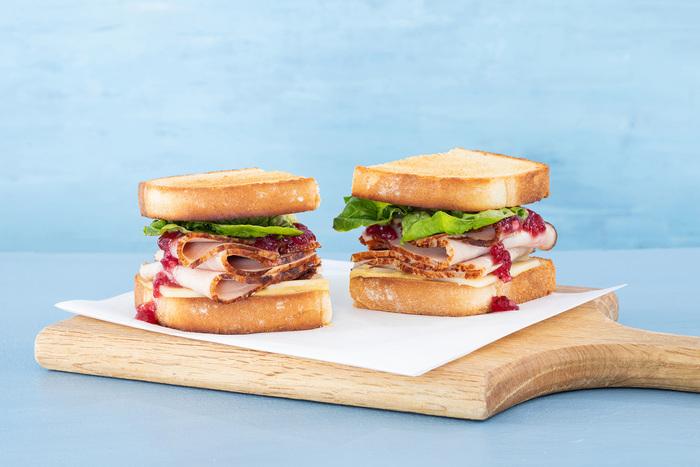 Cranberry Cheddar Thanksgiving Turkey Sandwich