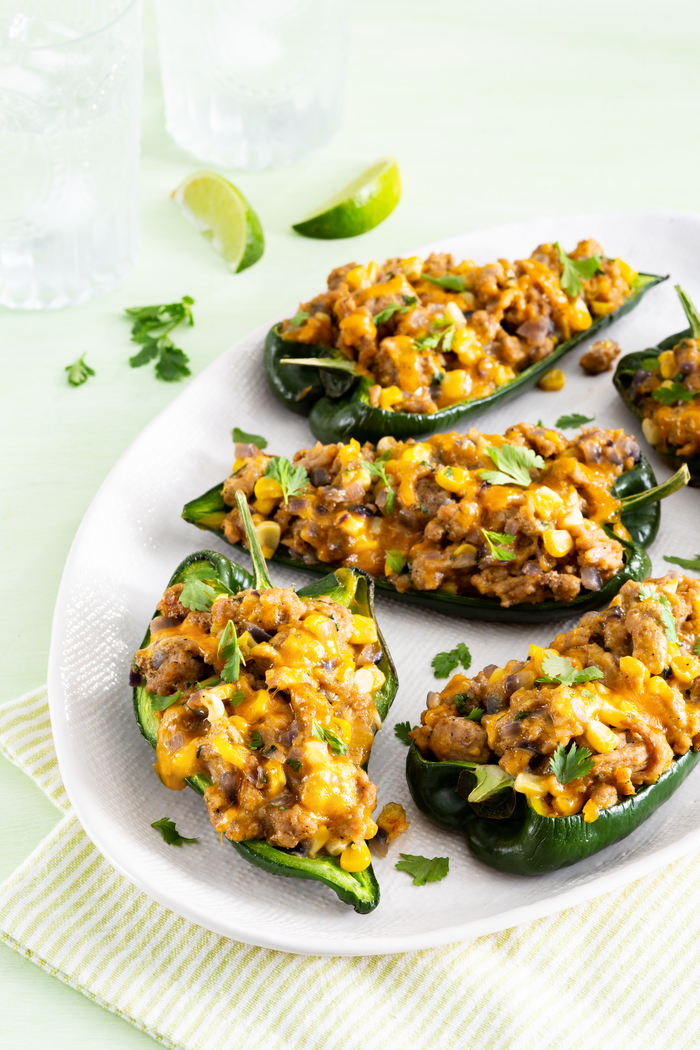 Southwestern Turkey Stuffed Poblanos