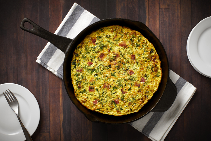 Turkey Bacon and Kale Frittata