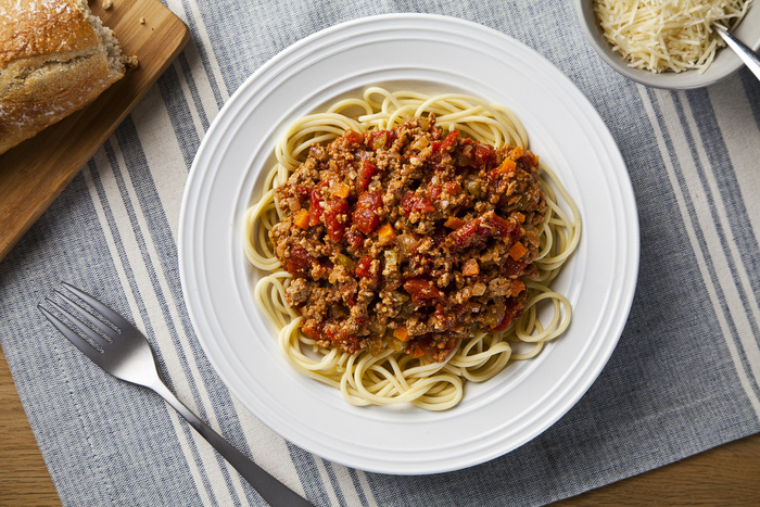 Spaghetti with Turkey Bolognese Sauce