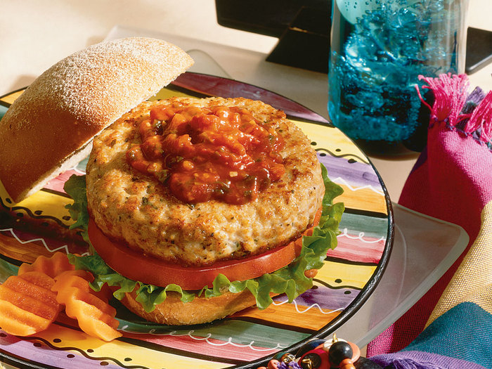 Turkey Burgers with Cowpoke Barbecue Sauce