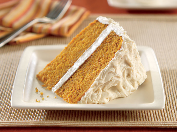 Pumpkin Spice Cake with Vanilla Maple Frosting