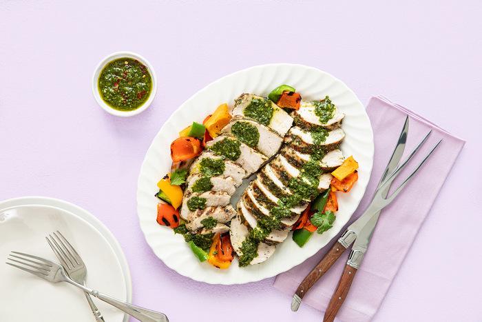 Grilled Turkey Breast Tenderloin with Chimichurri Sauce
