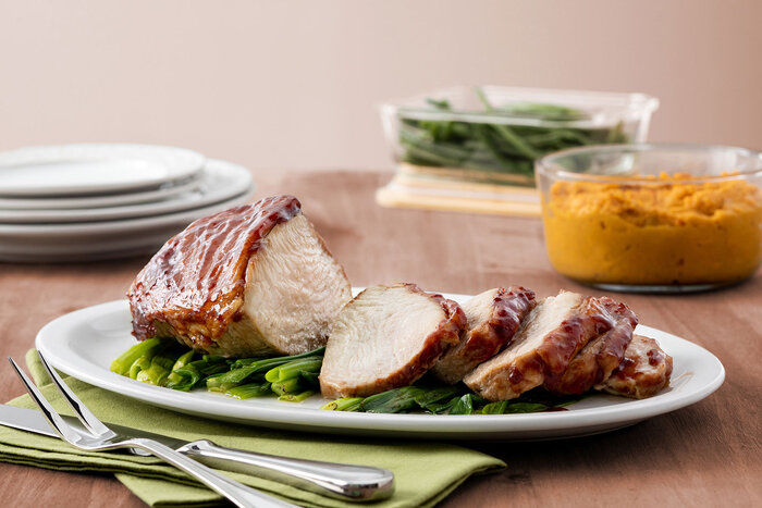 Boneless Turkey Roast with Sweet and Tangy Sauce