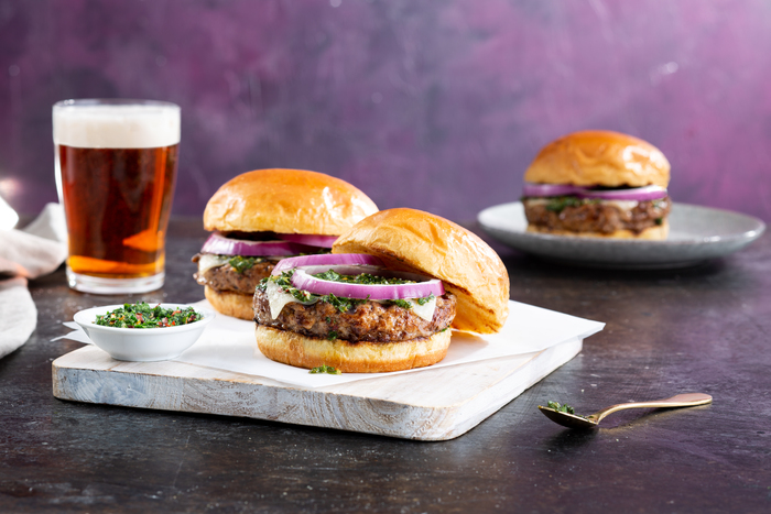 Grilled Chimichurri Turkey Burgers