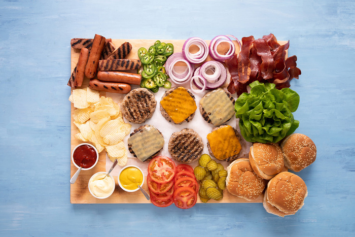 Build-Your-Own Turkey Burger Platter