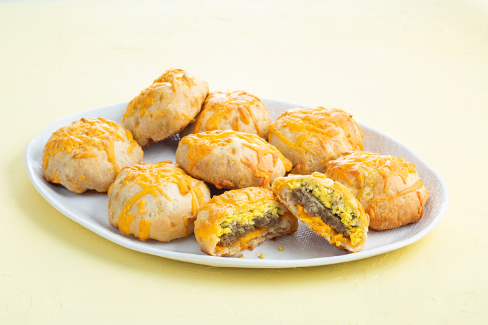 Sausage, Egg and Cheese-Stuffed Biscuits
