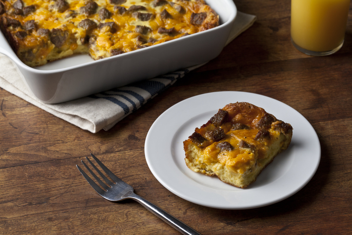 Turkey Sausage and Cheese Strata