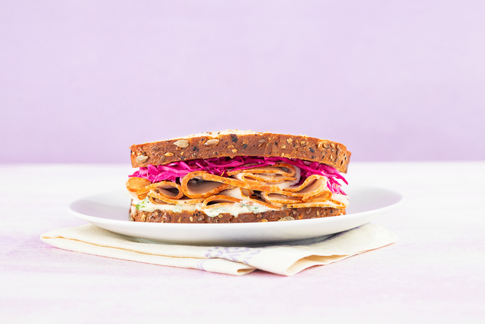 Roasted Turkey Sandwich with Pickled Red Cabbage
