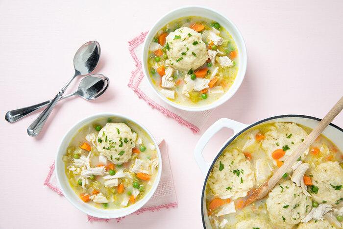 Easy Leftover Turkey Dumpling Soup