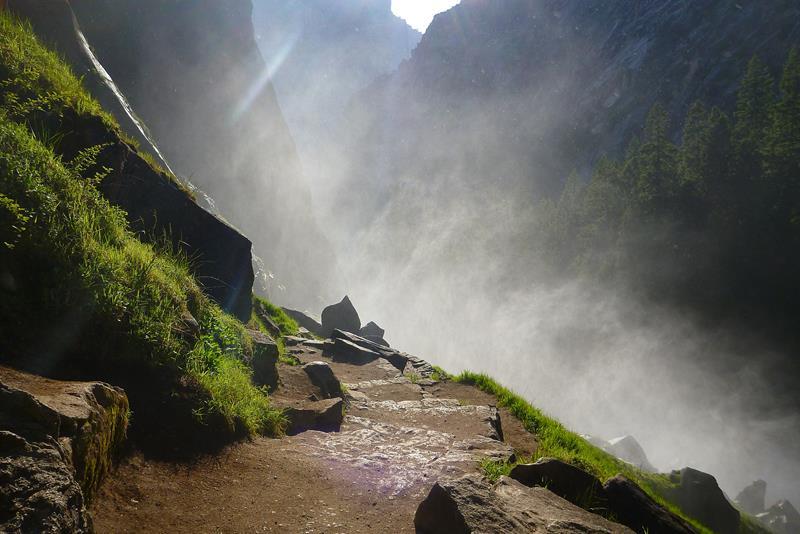 13 - 25 Most Treacherous Hiking Trails in the World - Mist Trail, Half Dome, California