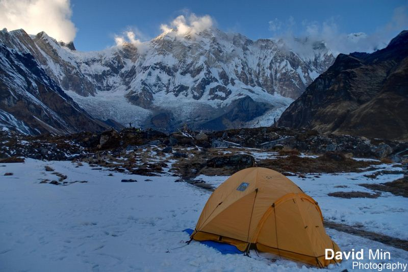 15-25 Everest Pictures - Rest up- Annapurna Base Camp, Nepal - Frozen Morning