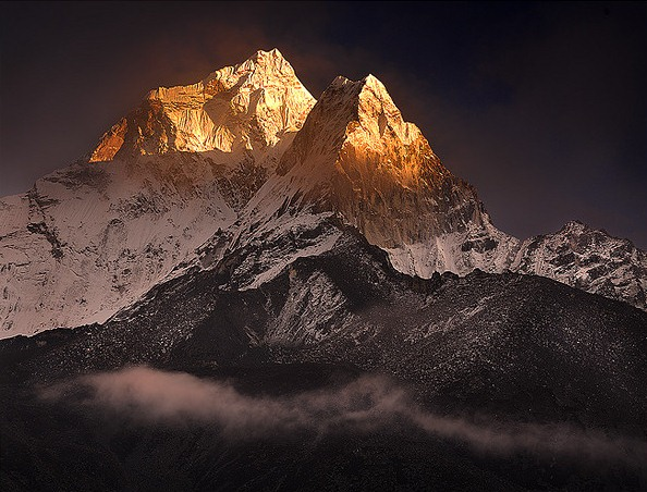26-25 Everest Expedition Pictures - Until dreams of Everest lure you back again-Clearing Storm over Ama Dablam