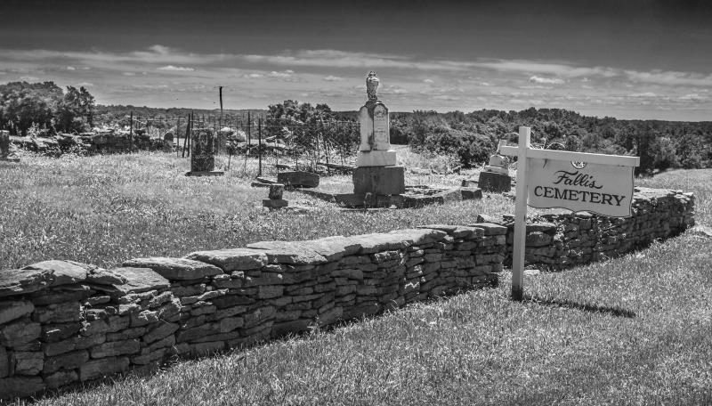 36) Oklahoma  - Fallis cemetery Sugarcreek - Haunted Hiking Trails 50 States
