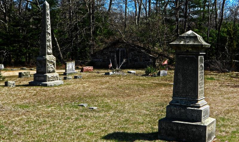39) Rhode Island  - Chestnut Hill Cemetery Exeter - Haunted Hiking Trails 50 States