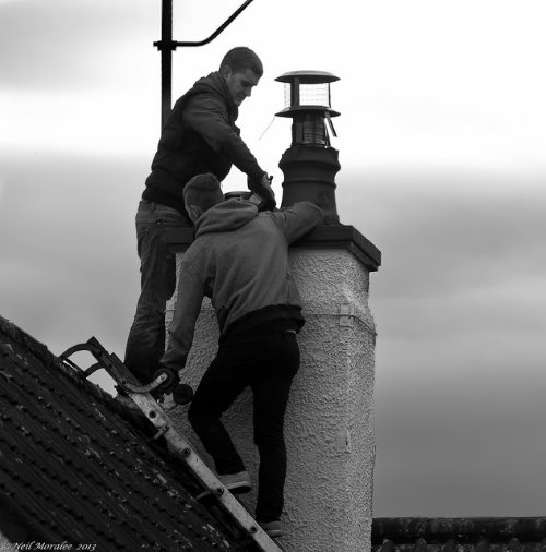 Stuck in chimney