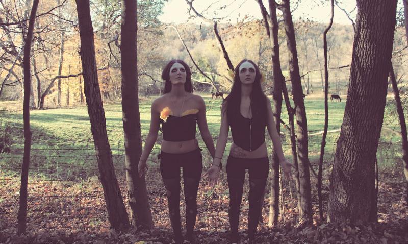 Druid girls in forest