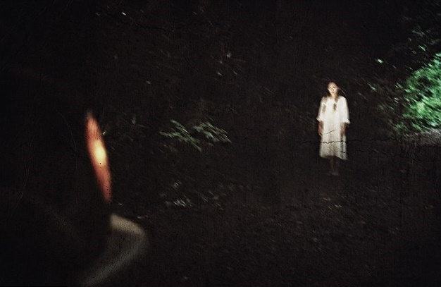Ghost Woman in White Dress