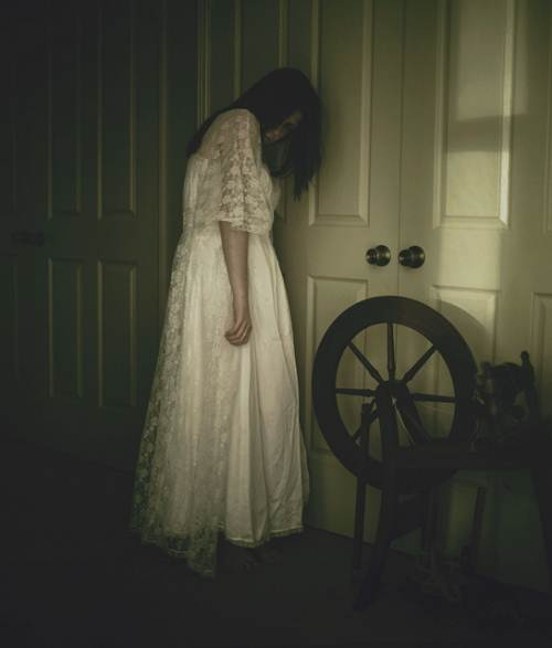 Ghost of girl in room