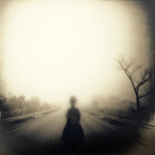 Woman ghost on road