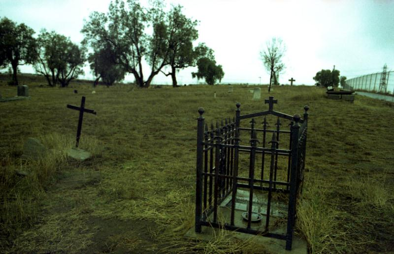 Baby's Grave at Haunted Agua Mansa Cemetery in Colton California