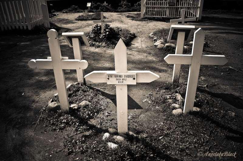 Cross Grave Markers at El Campo Santo Cemetery