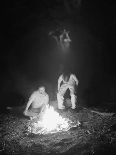 Spirits in the campfire at Big Sur Fernwood Campground