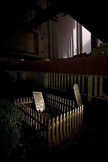 Haunted sorrow in the pet cemetery at the San Francisco Presidio