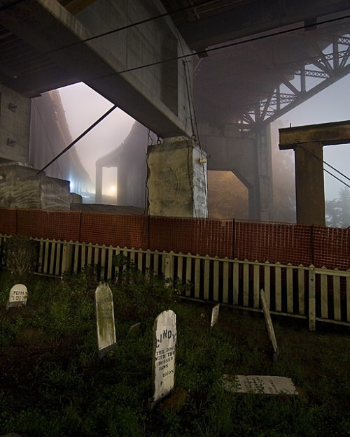 The fog rolls in at the haunted San Francisco Presidio pet cemetery