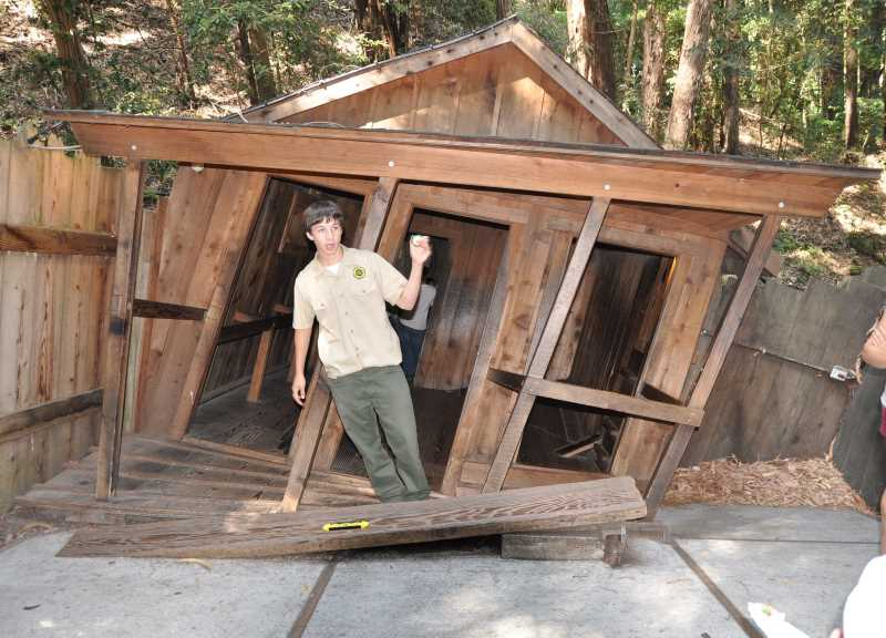The Mystery Spot in Santa Cruz is one of the weirder haunted attractions in California.