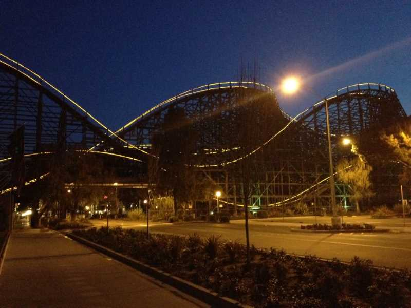 Knott's berry farm rollercoaster in california
