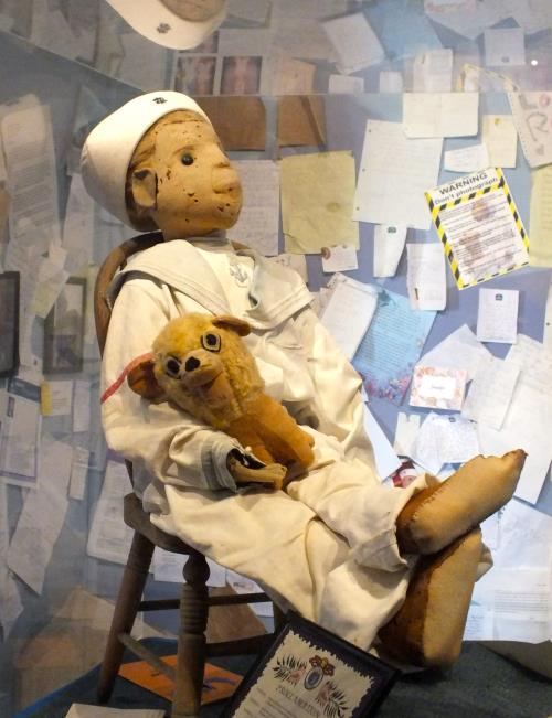Although sitting still here, some people have caught Robert the Doll moving on tape.