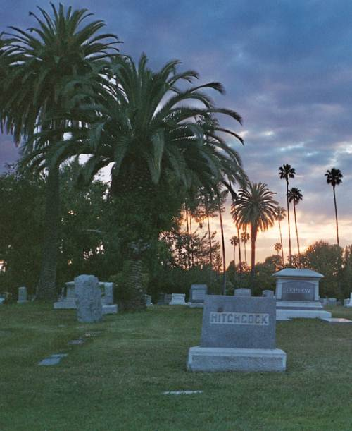 Alfred Hitchcock's grave at the Hollywood Forever Cemetery in Los Angeles