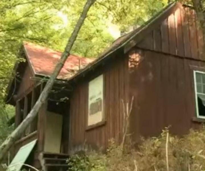 Creepy haunted cabin at St Anne's retreat in Logan Utah