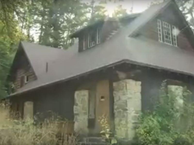 Abandoned cabin at St Anne's retreat in Logan Utah