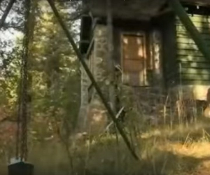 Creepy swingset and haunted structure at St Anne's Retreat in Logan Utah