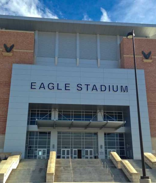The haunted Eagle Stadium in Allen Texas