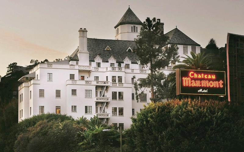 The haunted Chateau Marmont of West Hollywood in Los Angeles California