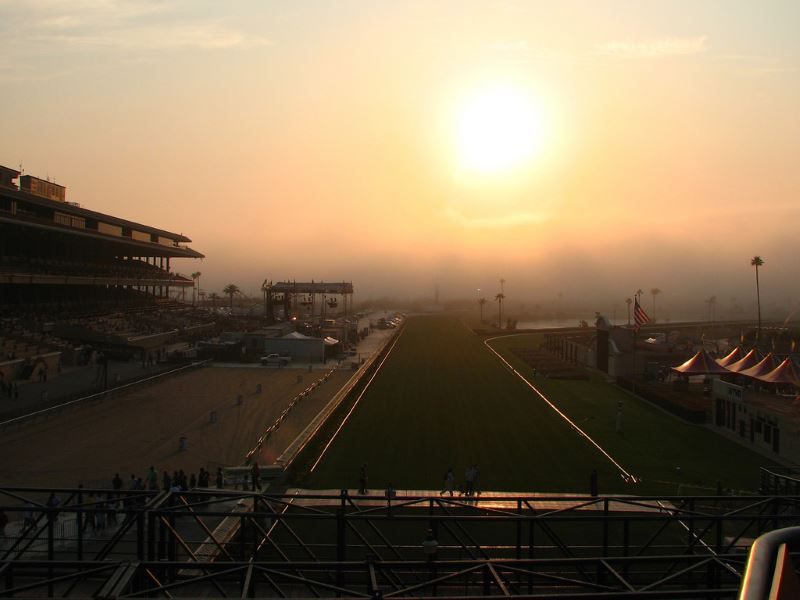 Del Mar Racetrack, San Diego. It's a nice place to go with your pals, with the family, or with hopes of seeing a ghost.