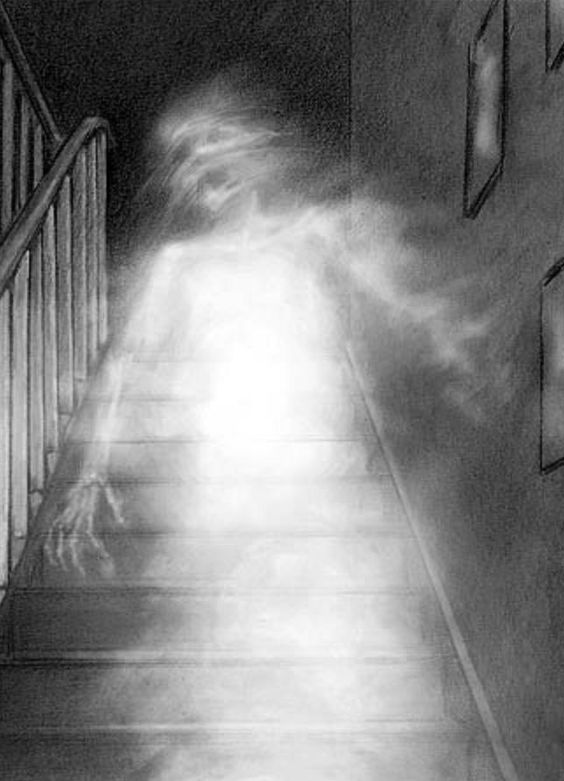 Beautiful Strange Apparition On The Stairs