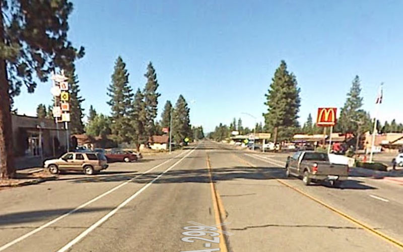 HIghway 299 runs through town before taking you on a much more sinister path.