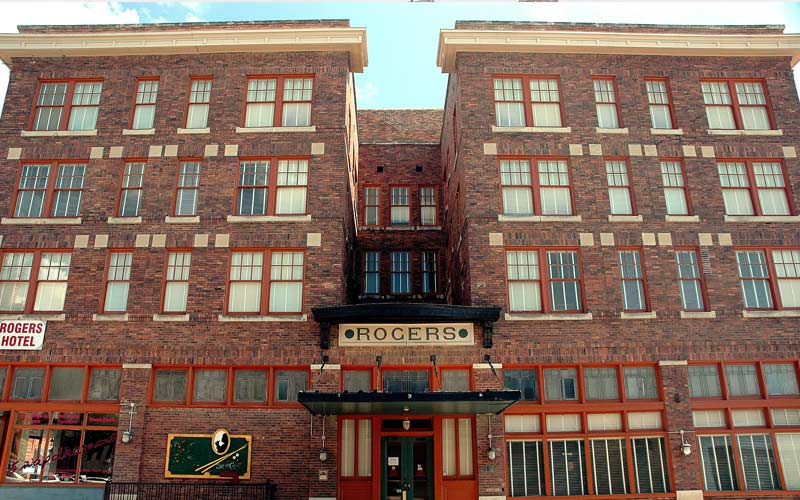 The Rogers Hotel has earned the #3 spot on our list of the most haunted hotels in Texas because of the numerous ghosts who have been reported there over the years.