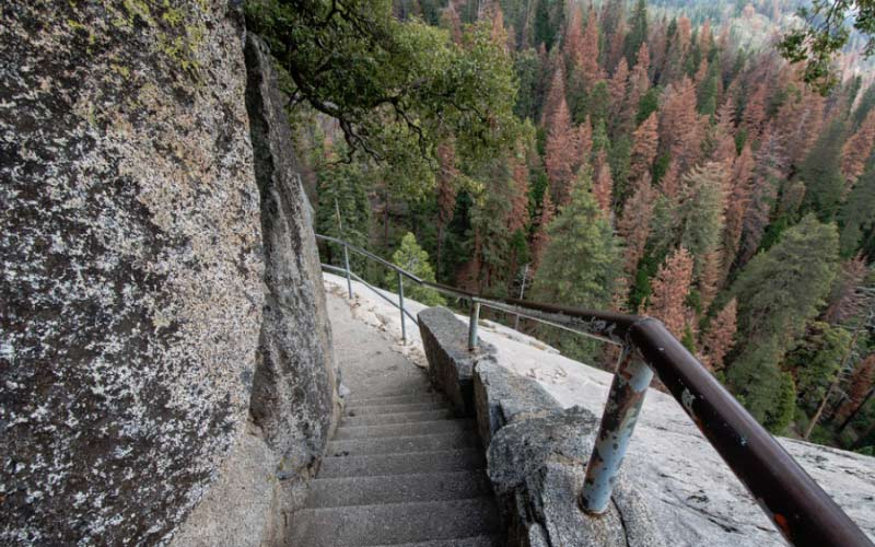 The Moro Rock Trail will take you through some very interesting scenery in Tulare.
