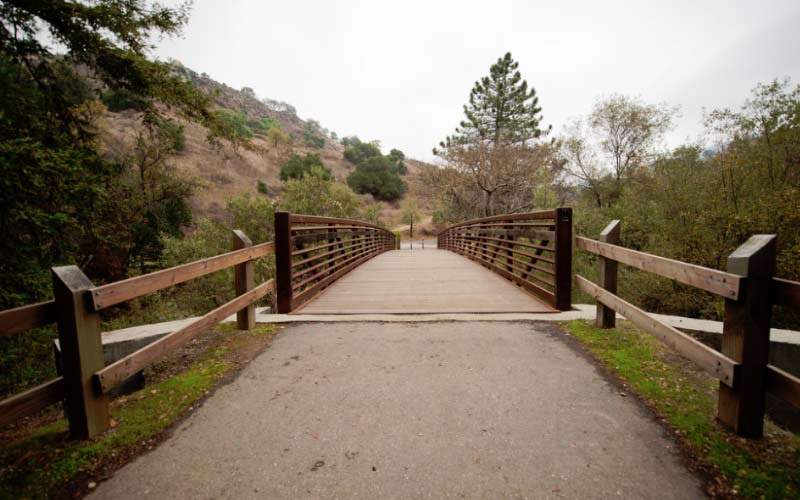The Alum Rock Trail in San Jose is beautiful during the day, but we weary of going here at night.
