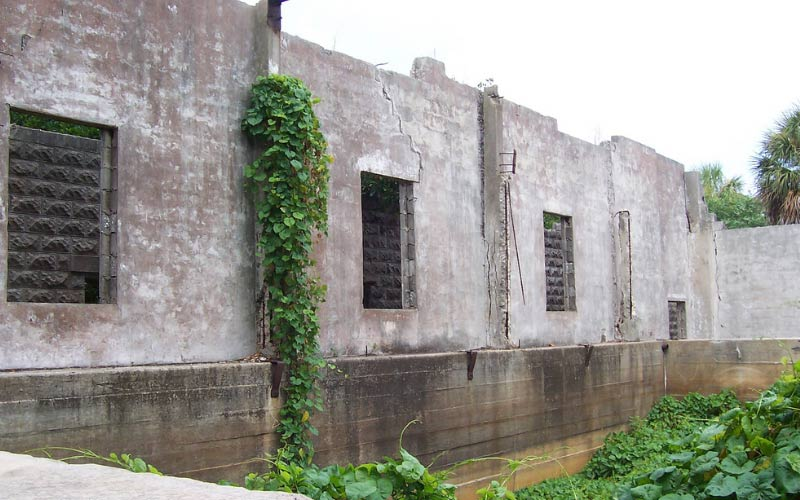 The remnants of Fort Dade are haunted, or so they say.