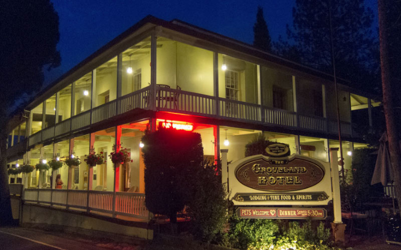 The Groveland Hotel in California is one of the most haunted attractions in Groveland.