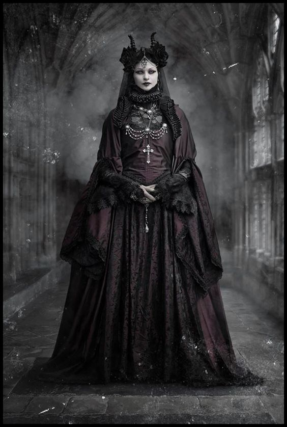 She looked like some kind of priestess, but definitely not want you'd see in a church that follows the Lord